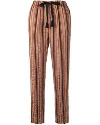 Forte Forte - Striped Drawstring Trousers - Lyst