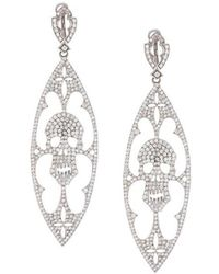 Loree Rodkin - Diamond Skull Drop Earrings - Lyst