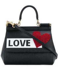 Dolce   Gabbana - Mini Sicily Love Patch Shoulder Bag - Lyst e2fb6c88d5bdb