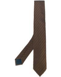 Dell'Oglio - Jacquard Stripe Tie - Lyst