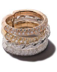 David Yurman Flexible Four Row Ring - Metallic