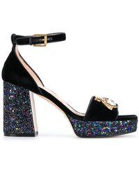Gucci - Block Heel Sandals - Lyst
