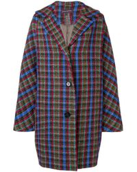 Talbot Runhof - Oversized Check Coat - Lyst