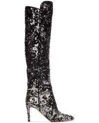 Aquazzura - Gainsbourg 85 Sequin Boots - Lyst