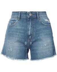 Anine Bing - High Waisted Denim Shorts - Lyst