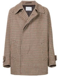Kolor - Plaid Fitted Coat - Lyst