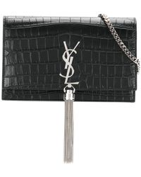 Saint Laurent - Monogram Kate Tassel Chain Wallet - Lyst