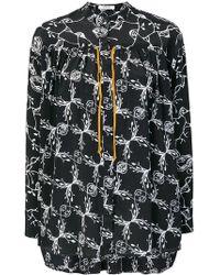 Dorothee Schumacher - Printed Tie Neck Blouse - Lyst