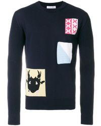J.W. Anderson | Patch Knit Sweater | Lyst