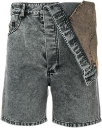 Y. Project - Fitted Denim Shorts - Lyst