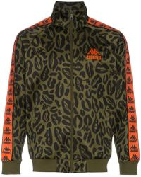 Charm's - Leopard Printed Logo Embroidered Jacket - Lyst