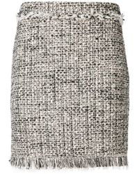 Twin Set - Frayed Bouclé Skirt - Lyst