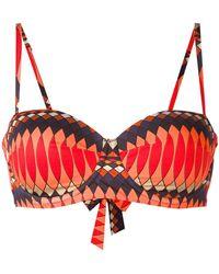 Paul Smith | Geometric Print Bikini Top | Lyst