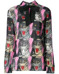 Gucci - Tiger Face Print Sablé Shirt - Lyst