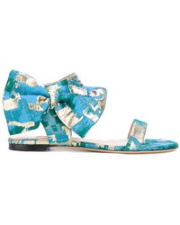Gianluca Capannolo - Patterned Bow Sandals - Lyst