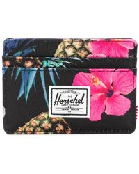 Herschel Supply Co. - Floral Print Cardholder - Lyst