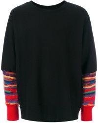 Facetasm - Striped Sleeves Jumper - Lyst