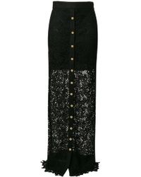 Fausto Puglisi - Long Lace Skirt - Lyst