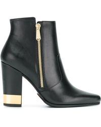 Balmain - Metallic Heel Boots - Lyst