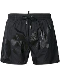 DSquared² - Logo Printed Swimming Trunks - Lyst