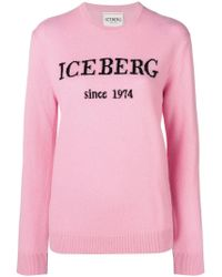 Iceberg - Cashmere Logo Sweater - Lyst