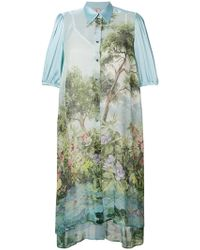 Antonio Marras - Printed Midi Shirt Dress - Lyst