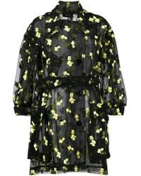 Simone Rocha - Organza Flower Embroidered Trench - Lyst