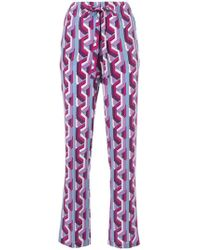 Gucci - Web Chain Print Pajama Trousers - Lyst