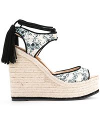 Paul Andrew - Patterned Wedge Sandals - Lyst