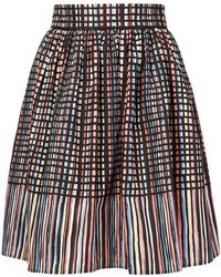 Paule Ka - Pleated Print Skirt - Lyst