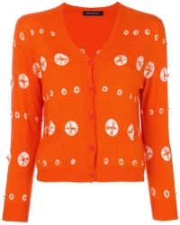 Samantha Sung - Embroidered Double Pocket Cardigan - Lyst