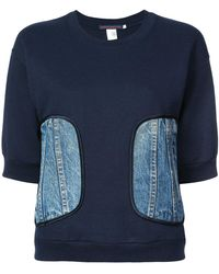 Harvey Faircloth - Demin Patch Sweatshirt - Lyst