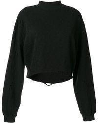 Thom Krom - Distressed Sweatshirt - Lyst
