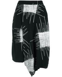 UMA   Raquel Davidowicz -   Printed Wide Bermuda Shorts - Lyst