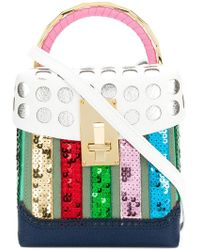 the VOLON - Polka Dot Brogue Detail Handbag - Lyst
