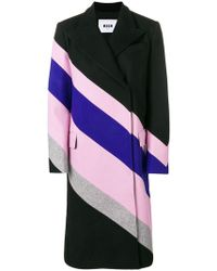 MSGM - Striped Oversized Coat - Lyst