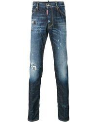 DSquared² Schmale 'Twins' Jeans mit ausgeblichenem Effekt