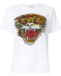 P.A.R.O.S.H.   Perforated Tiger T-shirt   Lyst