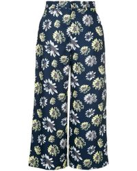 Guild Prime - Printed Cropped Trousers - Lyst