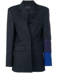 Erika Cavallini Semi Couture - Contrast Sleeve Blazer - Lyst