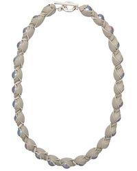 Spinelli Kilcollin - Collana Di Perle Con Pelle Intrecciata - Lyst
