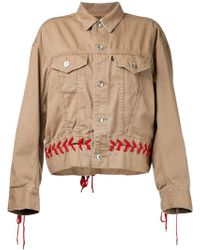 G.v.g.v - Denim Shoe Lace Up Jacket - Lyst