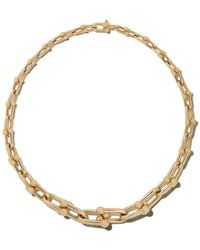 ebbe46462bec Tiffany   Co. - 18kt Yellow Gold Tiffany City Hardwear Graduated Link  Necklace - Lyst