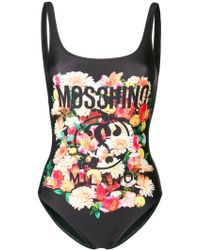 Moschino - Branded One Piece Swimsuit - Lyst