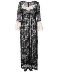 Anna Sui - Floral Medallion Lace Dress - Lyst