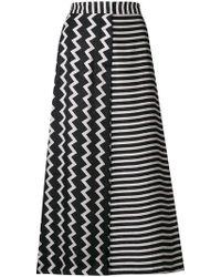 Stella McCartney - Multi-print Cropped Flared Trousers - Lyst