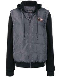 Roberto Cavalli - Logo Patch Down Jacket - Lyst