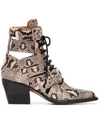 Chloé - Rylee 60 Leather Ankle Boots - Lyst