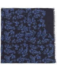 Kiton - Abstract Print Cashmere Scarf - Lyst