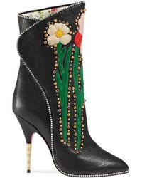 Gucci - Leather Boots - Lyst